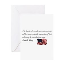 Concealing the Truth Greeting Card