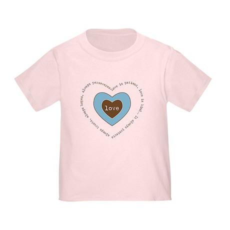 Corinthians Love Heart Toddler T-Shirt