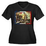 Bastille Day Women's Plus Size V-Neck Dark T-Shirt