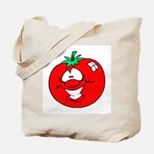 Happy Tomato Face Tote Bag