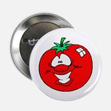 """Happy Tomato Face 2.25"""" Button (10 pack)"""