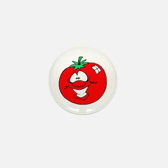 Happy Tomato Face Mini Button