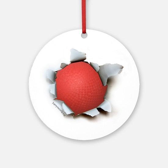 Dodgeball Burster Ornament (Round)