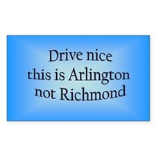 Arlington n RM Rectangle Decal