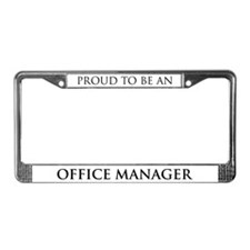 Proud Office Manager License Plate Frame