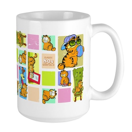 Classic Garfield Squares Large Mug