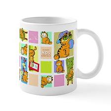 Classic Garfield Squares Small Mug