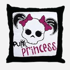 Punk Princess Throw Pillow