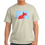 Dinosaur Silhouette Light T-Shirt (rose w/ blue)