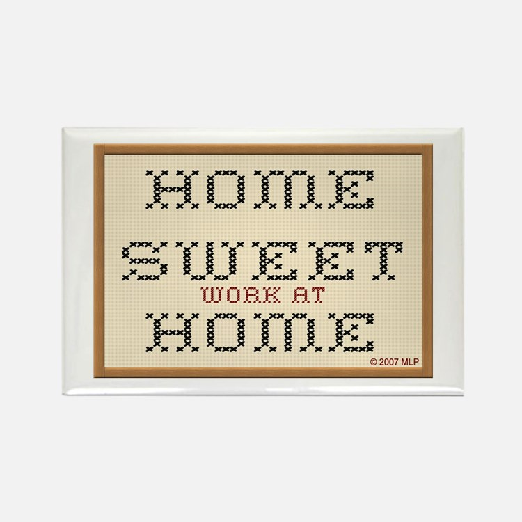 Home Sweet WAHM Rectangle Magnet