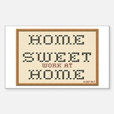 Home Sweet WAHM Rectangle Decal