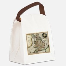 Vintage Map of England (1596) Canvas Lunch Bag