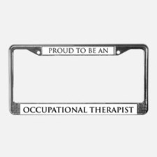 Proud Occupational Therapist License Plate Frame