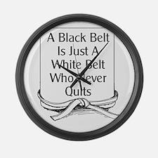 Black Belt Is Large Wall Clock