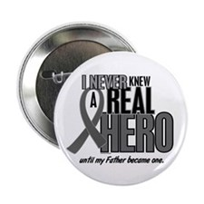 """Never Knew A Hero 2 Grey Ribbon Father 2.25"""" Butto"""