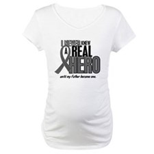 Never Knew A Hero 2 Grey Ribbon Father Shirt