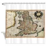 England map Shower Curtains