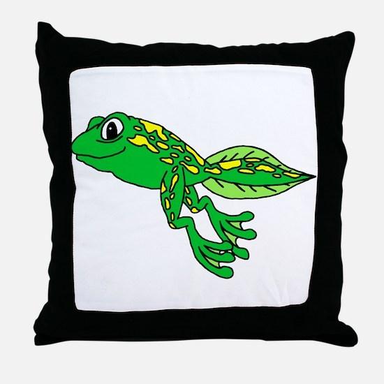 Happy Tadpole Throw Pillow