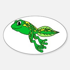 Happy Tadpole Oval Decal
