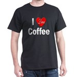 I Love Coffee (Front) Black T-Shirt