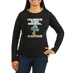 Alien Abduction Women's Long Sleeve Dark T-Shirt