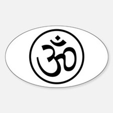 Aum Black Oval Decal
