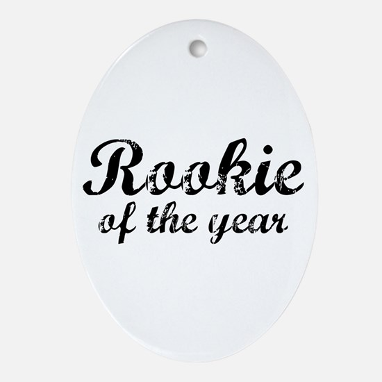 Rookie Of The Year Oval Ornament