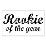 Rookie Of The Year Rectangle Sticker 10 pk)