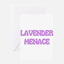 Lavender Menace Greeting Card