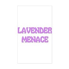 Lavender Menace Rectangle Decal