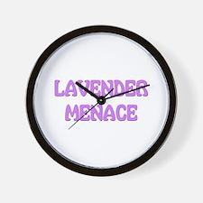 Lavender Menace Wall Clock