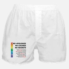 No Apologies Boxer Shorts