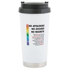 No Apologies Travel Mug