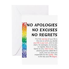 No Apologies Greeting Card