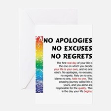 No Apologies Greeting Card