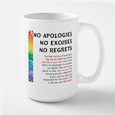No Apologies Large Mug