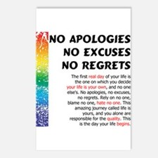No Apologies Postcards (Package of 8)