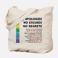 No Apologies Tote Bag