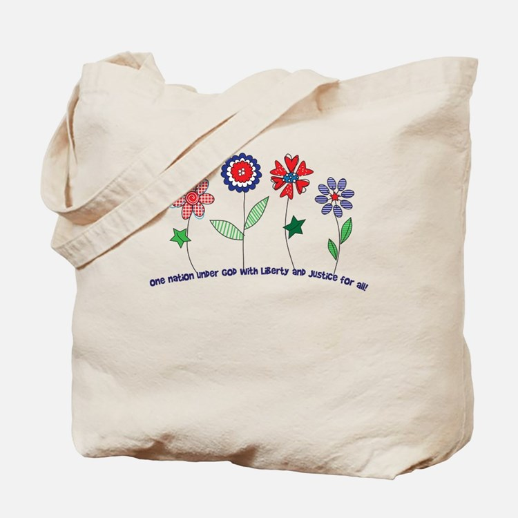 Flowers of Freedom Tote Bag