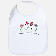 Flowers of Freedom Bib