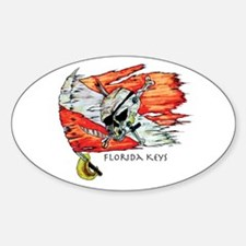 Florida Keys Diving Sticker (Oval)
