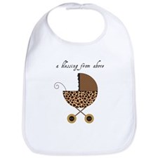 Baby Carriage in Leopard Print Bib
