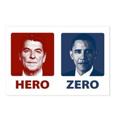 Obama Hero or Zero Postcards (Package of 8)