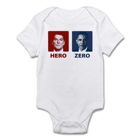 Obama Hero or Zero Infant Bodysuit
