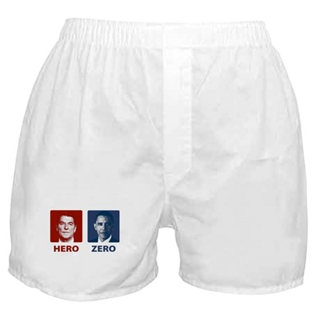 Obama Hero or Zero Boxer Shorts