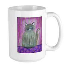 Brown Cat in Pink Room Mug