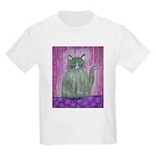 Brown Cat in Pink Room T-Shirt