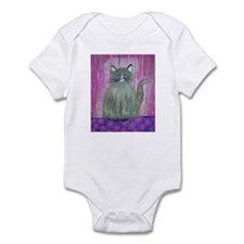 Brown Cat in Pink Room Infant Bodysuit