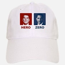 Obama Hero or Zero Baseball Baseball Cap