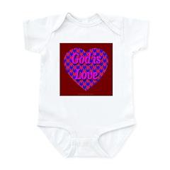 Heart of Hearts God Is Love Infant Creeper